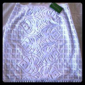 Brand new never worn Lilly Pulitzer crochet skirt